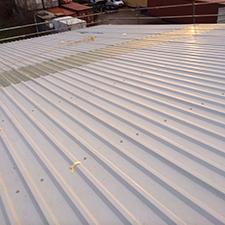 Industrial roof Solar panel installation